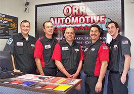 Orr Automotive ASE Technicians